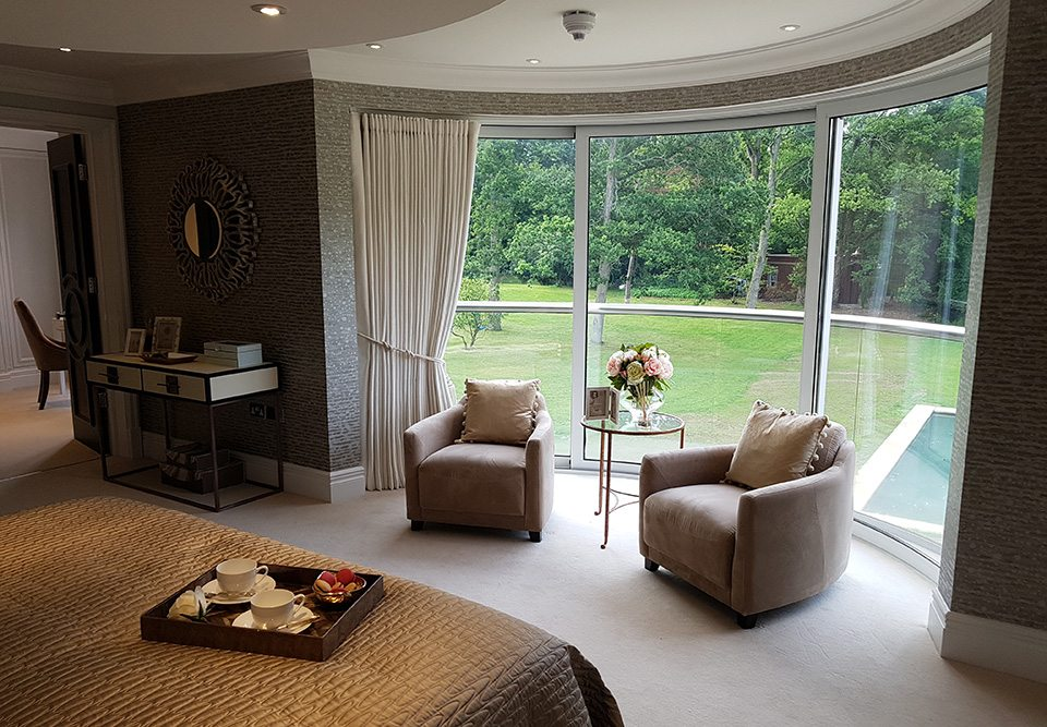 silent gliss curtain track bent to suit bay window